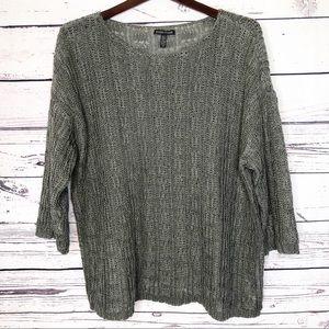 Eileen Fisher loose knit sweater